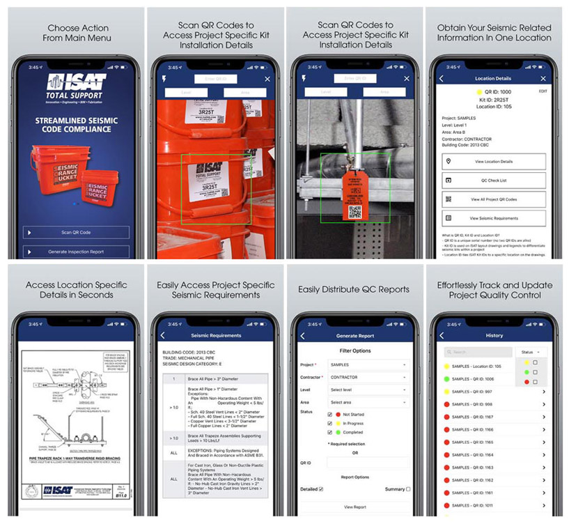 ISAT's QRXpert App Screen Shots