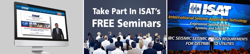 IBC Seismic Design Seminars on Requirements for Distributed Utilities